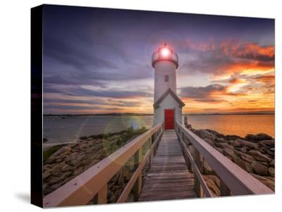 Lighthouse in Gloucester, Ma. USA-Christian Delbert-Stretched Canvas Print