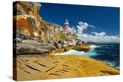 Sydney South Head Lighthouse. Australia.- Alvov-Stretched Canvas Print