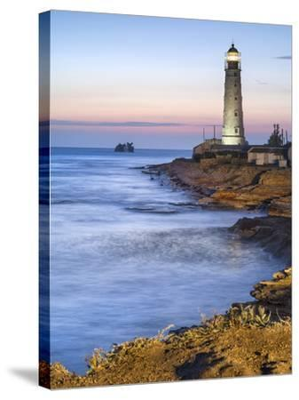 Lighthouse in Twilight-sergejson-Stretched Canvas Print