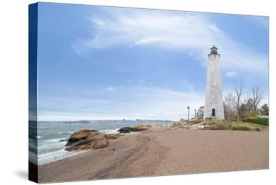 Five Mile Point Lighthouse in New Haven CT-beyond_a_snapshot-Stretched Canvas Print