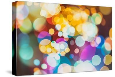 Abstract Texture, Light Bokeh Background-Maximusnd-Stretched Canvas Print