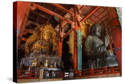 Daibutsu with Kokuzo Bosatsu at Todaiji Temple in Nara-coward_lion-Stretched Canvas Print