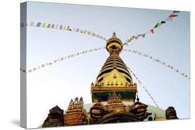 Buddhist Shrine Swayambhunath Stupa - Vintage Filter.-lora_sutyagina-Stretched Canvas Print