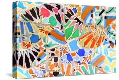 Barcelona, Spain - Gaudi Mosaic-Tupungato-Stretched Canvas Print