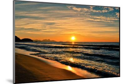 Beautiful Sunrise In The Beach-dabldy-Mounted Premium Photographic Print