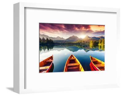 Mountain Lake In National Park High Tatra-Leonid Tit-Framed Premium Photographic Print
