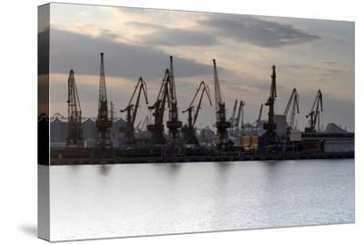 Port Odessa Ukraine-vector_master-Stretched Canvas Print