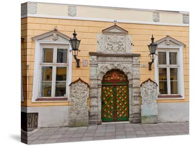 Brotherhood of the Blackheads House in Tallinn, Estonia- joymsk-Stretched Canvas Print