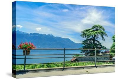 The UNESCO World Heritage Site of the Lavaux Vineyards near Lausanne in Switzerland.- albinhillert-Stretched Canvas Print