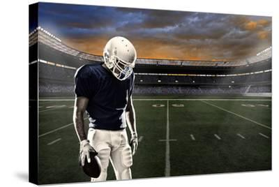 Football Player-Beto Chagas-Stretched Canvas Print