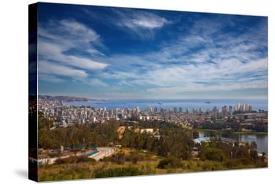 View on Vina Del Mar and Valparaiso, Chile-Nataliya Hora-Stretched Canvas Print