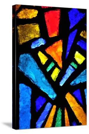 Stained Glass at the Church of the Annunciation- taln-Stretched Canvas Print
