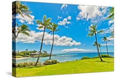 West Maui's Famous Kaanapali Beach Resort Area-eddygaleotti-Stretched Canvas Print