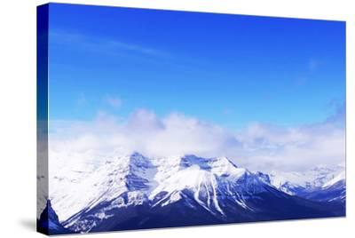 Snowy Mountains-elenathewise-Stretched Canvas Print