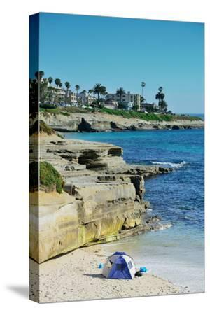La Jolla Cove Beach at San Diego.-Songquan Deng-Stretched Canvas Print