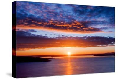 Sunset over Puget Sound, Seattle-kwest19-Stretched Canvas Print