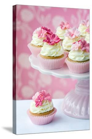 Cupcakes-Ruth Black-Stretched Canvas Print