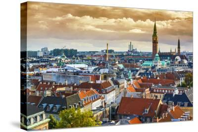Copenhangen, Denmark Aerial View of the Skyline.-SeanPavonePhoto-Stretched Canvas Print