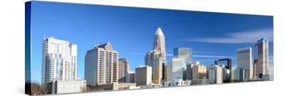 Uptown Charlotte, North Carolina Cityscape-SeanPavonePhoto-Stretched Canvas Print