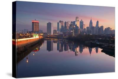 City of Philadelphia.-rudi1976-Stretched Canvas Print