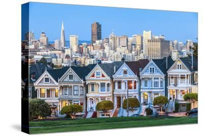 The Painted Ladies of San Francisco-prochasson-Stretched Canvas Print