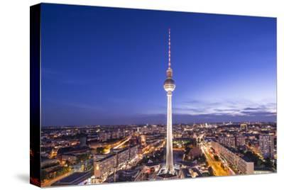 Cityscape of Berlin, Germany at Alexanderplatz.-SeanPavonePhoto-Stretched Canvas Print