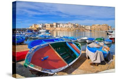 Panoramic View of Gallipoli. Puglia. Southern Italy.-Mi.Ti.-Stretched Canvas Print