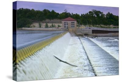 Powerhouse and Dam Spillway-jrferrermn-Stretched Canvas Print