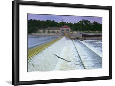 Powerhouse and Dam Spillway-jrferrermn-Framed Premium Photographic Print