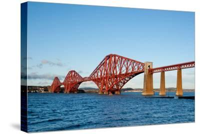 The Forth Bridge, Finally, Painted!- Versevend-Stretched Canvas Print