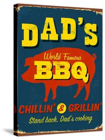 Vintage Design -  Dad's BBQ-Real Callahan-Stretched Canvas Print