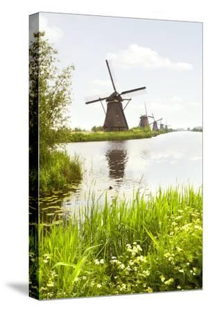 Row of Windmills in Kinderdijk, the Netherlands-Colette2-Stretched Canvas Print