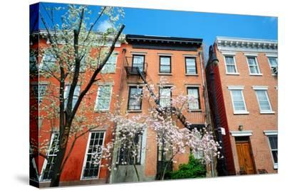 West Village New York City Apartments in the Springtime-SeanPavonePhoto-Stretched Canvas Print