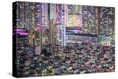 Shenzhen, China City Skyline at Twilight.-SeanPavonePhoto-Stretched Canvas Print