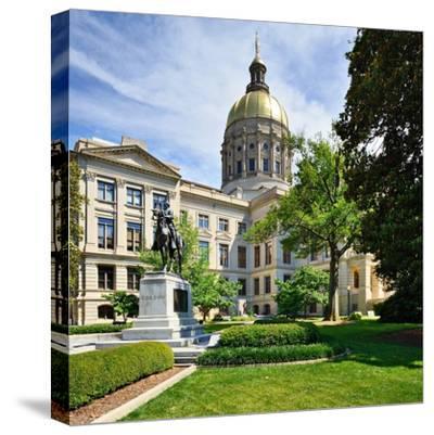 Georgia State Capitol Building in Atlanta, Georgia, Usa.-SeanPavonePhoto-Stretched Canvas Print