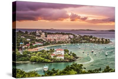 Cruz Bay, St John, United States Virgin Islands.-SeanPavonePhoto-Stretched Canvas Print