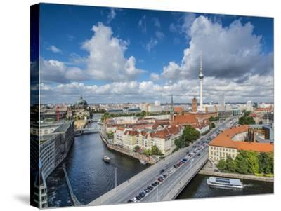 Berlin, Germany Viewed from above the Spree River.-SeanPavonePhoto-Stretched Canvas Print