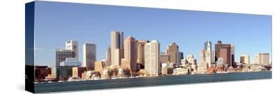 Financial District of Boston, Massachusetts Viewed from Boston Harbor.-SeanPavonePhoto-Stretched Canvas Print
