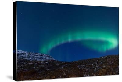 Northern Lights (Aurora Borealis) between Fjords-Jamenpercy-Stretched Canvas Print