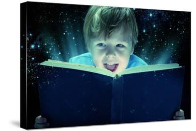 Child Opened a Magic Book-conrado-Stretched Canvas Print