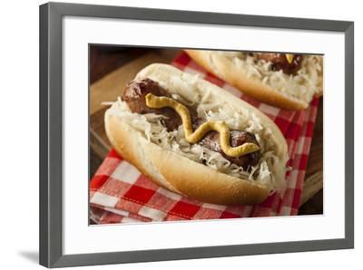 Homemade Bratwurst with Sauerkraut-bhofack22-Framed Premium Photographic Print
