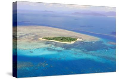 Green Island at Great Barrier Reef near Cairns Australia Seen from Above-dzain-Stretched Canvas Print