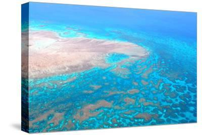 Great Barrier Reef, Cairns Australia, Seen from Above-dzain-Stretched Canvas Print
