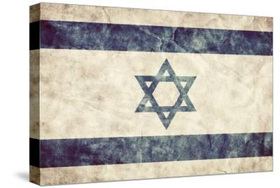Israel Grunge Flag. Vintage, Retro Style. High Resolution, Hd Quality. Item from My Grunge Flags Co-Michal Bednarek-Stretched Canvas Print