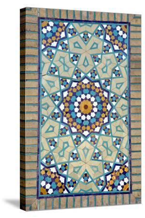 Tiled Mosque - Iran - Tomb of Hazrat Abdul Azim Hasani-saeedi-Stretched Canvas Print