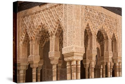 Patio of the Lions Columns from the Alhambra Palace-Lotsostock-Stretched Canvas Print