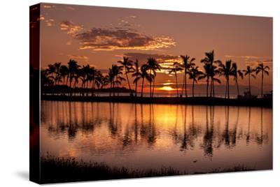 Waikoloa Sunset at Anaeho'omalu Bay-NT Photography-Stretched Canvas Print