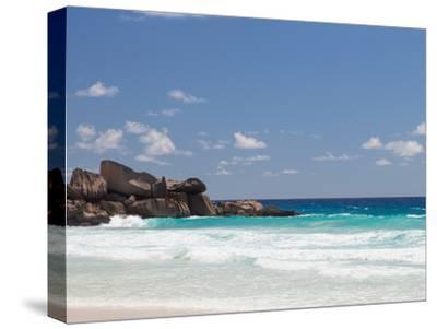 Beach with Large Stones-dizainera-Stretched Canvas Print