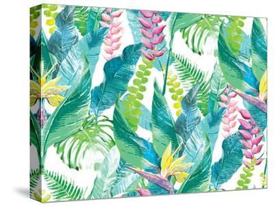 Exotic Flowers-Dasha Kozlovskikh-Stretched Canvas Print