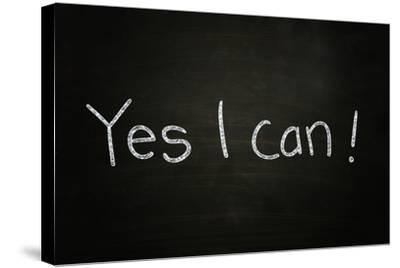 Yes I Can-airdone-Stretched Canvas Print